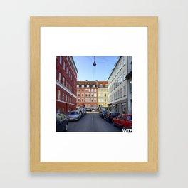 Colours of Vesterbro, Copenhagen Framed Art Print
