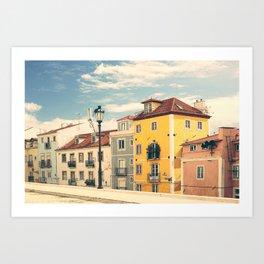 Porugal - summer street view Art Print