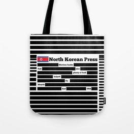 North Korea News Paper Tote Bag