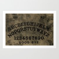 ouija Art Prints featuring Ouija by Andrea Raths