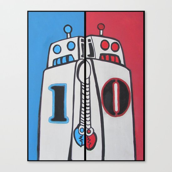Binary Brothers 1 + 0 Canvas Print