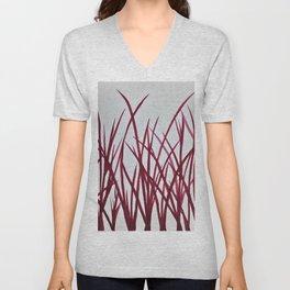 Red grass Unisex V-Neck
