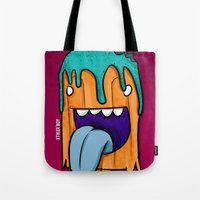 ice cream Tote Bags featuring ice cream by jeff'walker