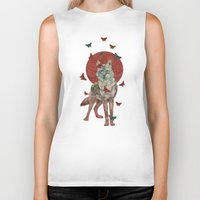 lady Biker Tanks featuring Lady Butterfly by Paula Belle Flores