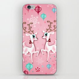 Cute Christmas Reindeer iPhone Skin