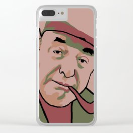 Pablo Neruda Clear iPhone Case