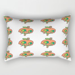 Mini toffee apple skull Rectangular Pillow