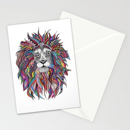 Mighty Lion Doodle Stationery Cards