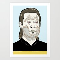 data Art Prints featuring Data Wolf by Mike Force