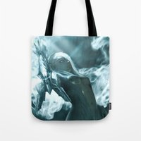 soul eater Tote Bags featuring Aoelia the Soul Eater by Jiyu-Kaze™