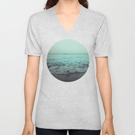 Crash into Me - Aqua Vintage Beach Edition Unisex V-Neck
