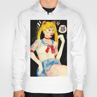 sailor moon Hoodies featuring sailor moon by withapencilinhand