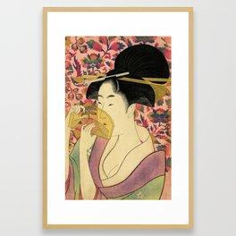 Japanese Art Print - Japanese Woman - Kushi Utamaro Framed Art Print