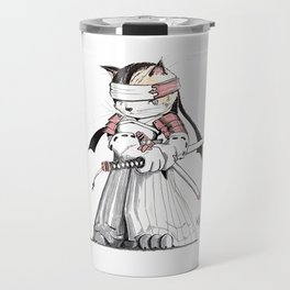 Samurai Japanese Bobtail Cat Travel Mug