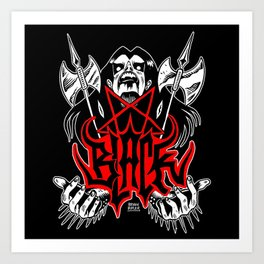The Black Metal Art Print
