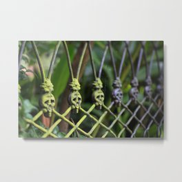 New Orleans - Anne Rice Fence Metal Print