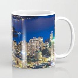 Voyeuristic 1556 Vancouver Cityscape Twilight View English Bay Vancouver Coffee Mug