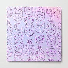 Kitty Mystics in Pink Metal Print