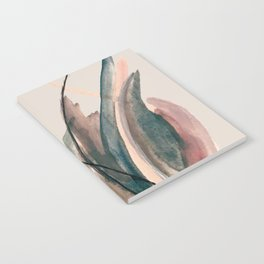 Slow Burn: a pretty, minimal, abstract mixed media piece using watercolor and ink Notebook