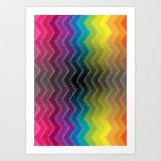 Zigzag 2 Art Print