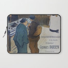 L Escarmouche, 1893 French Vintage Poster, Henri-Gabriel Ibells Laptop Sleeve