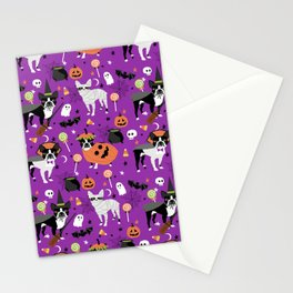 Boston Terrier Halloween - dog, dogs, dog breed, dog costume, cosplay cute dog Stationery Cards