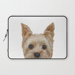 Yorkshire 2 Dog illustration original painting print Laptop Sleeve