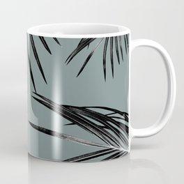Black Palm Leaves Dream #4 #tropical #decor #art #society6 Coffee Mug