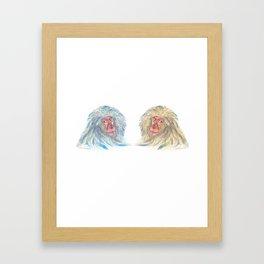 Macaco blues Framed Art Print