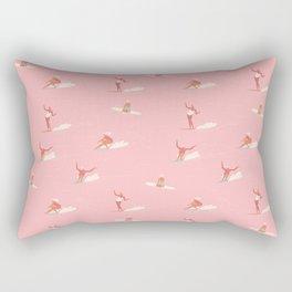 Waikiki beach in pink Rectangular Pillow