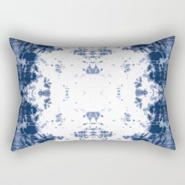 Shibori Tie Dye 5 Indigo Blue Rectangular Pillow