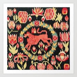 Agedyna Swedish Skåne Province Carriage Cushion Print Art Print