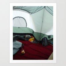 Camping Gnome Art Print