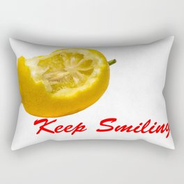 Lemon composition Keep Smiling! Rectangular Pillow