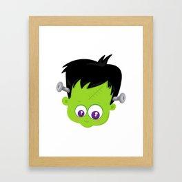 Cute Frankenstein Monster Framed Art Print