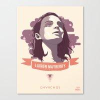 chvrches Canvas Prints featuring Lauren Mayberry - CHVRCHES by Derek Brown