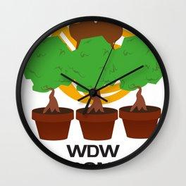 WDW Kingdomcast Planters Wall Clock