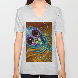 peacockfeather Unisex V-Neck