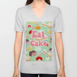 Eat Cake Unisex V-Neck