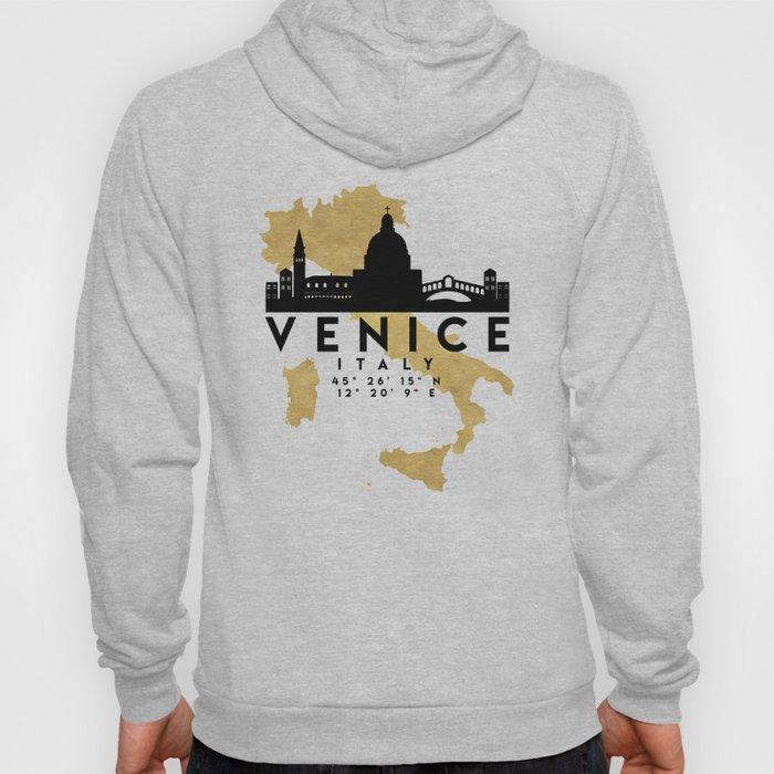 VENICE ITALY SILHOUETTE SKYLINE MAP ART Hoody
