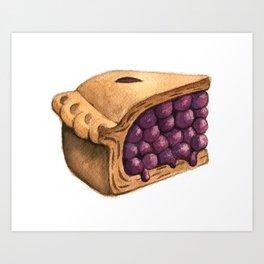 Blueberry Pie Slice Art Print