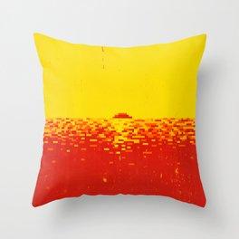 Sunset Pixels Throw Pillow