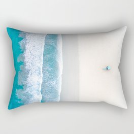 California Beach Aerial View Rectangular Pillow