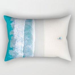 California Beach Aerial View Rectangular Pillow