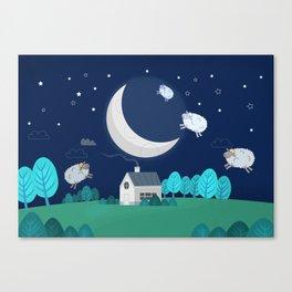 What The Sheep Do While You Sleep Canvas Print