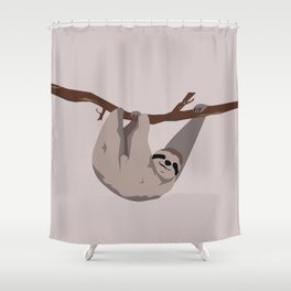 Sloth just hangin' Shower Curtain