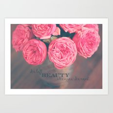 she left beauty wherever she went. Art Print
