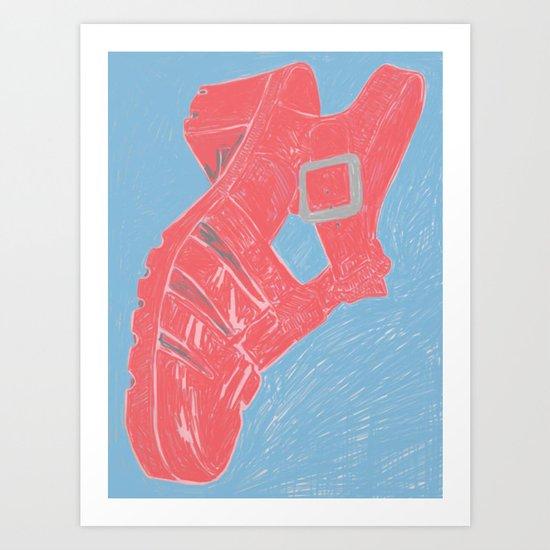 Sandal, 2013. Art Print