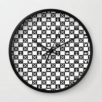 kingdom hearts Wall Clocks featuring Kingdom Hearts pattern by Airesama