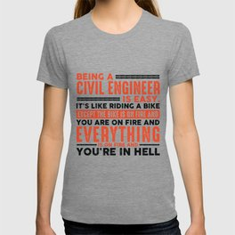 Being a Plumber Is Easy Shirt Everything On Fire T-shirt